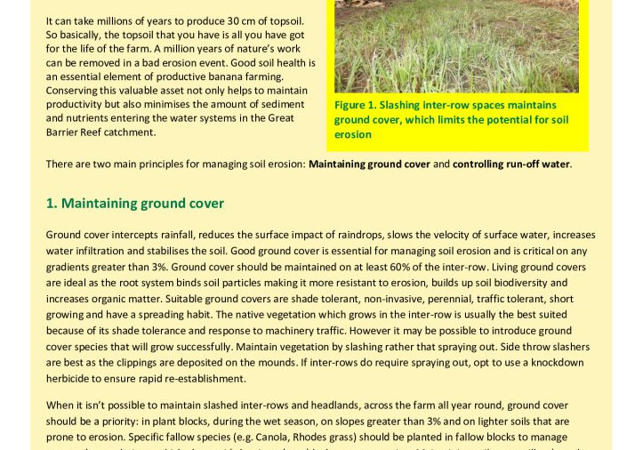 FACTSHEET_Managing Soil Erosion
