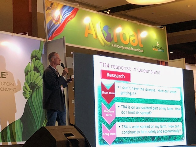 Dr Tony Pattison delivers a presentation on the Australian experience in the management of TR4 at ACORBAT 2018
