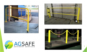 3. Examples of fixed, and non-fixed systems, to reduce falls from loading dock facilities.