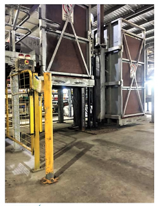 5. Example of movable gate to put in front of pallet stacker when machine is in use.