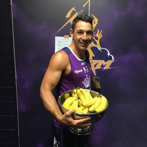 """Preseason fuel"" - Billy Slater promoting bananas on Facebook."