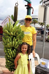 Elise Nucifora and her daughter Gabriella with the Guess the Weight competition.