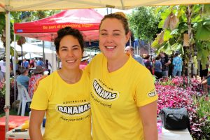 Josephine Borsato and Australian Bananas marketing manager Tate Connolly.
