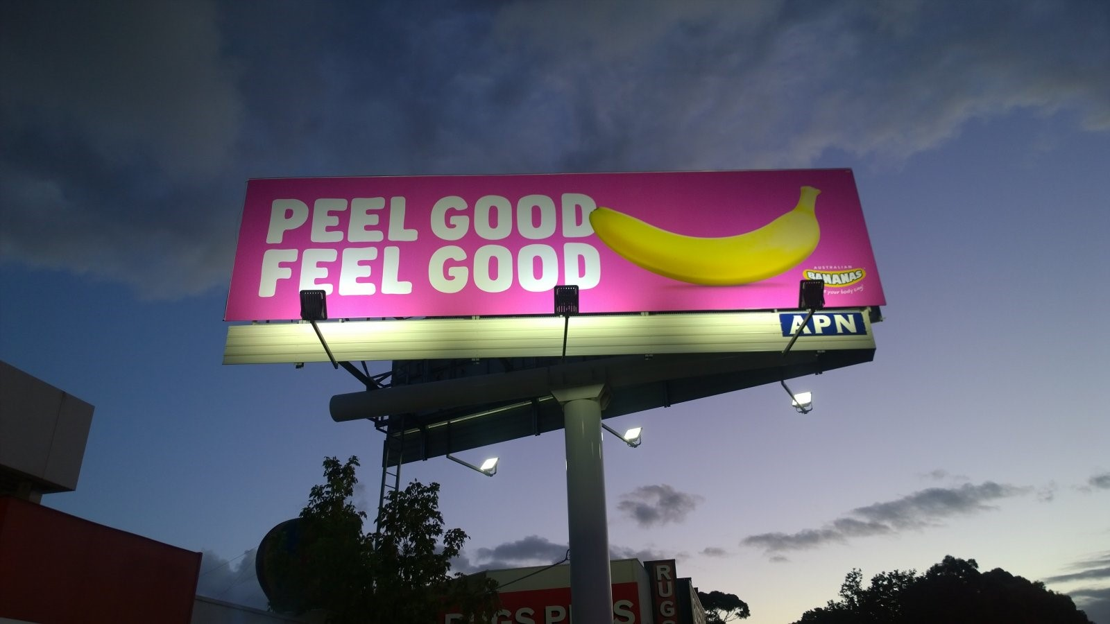 Billboards in key regional areas helped promote bananas to Aussie  consumers.
