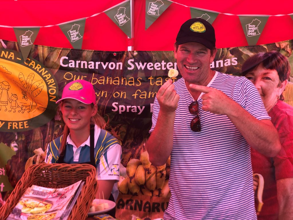 Celebrity chef Ben O'Donoghue was among those who tried the bananas. Image: Sweeter Banana Co-Operative