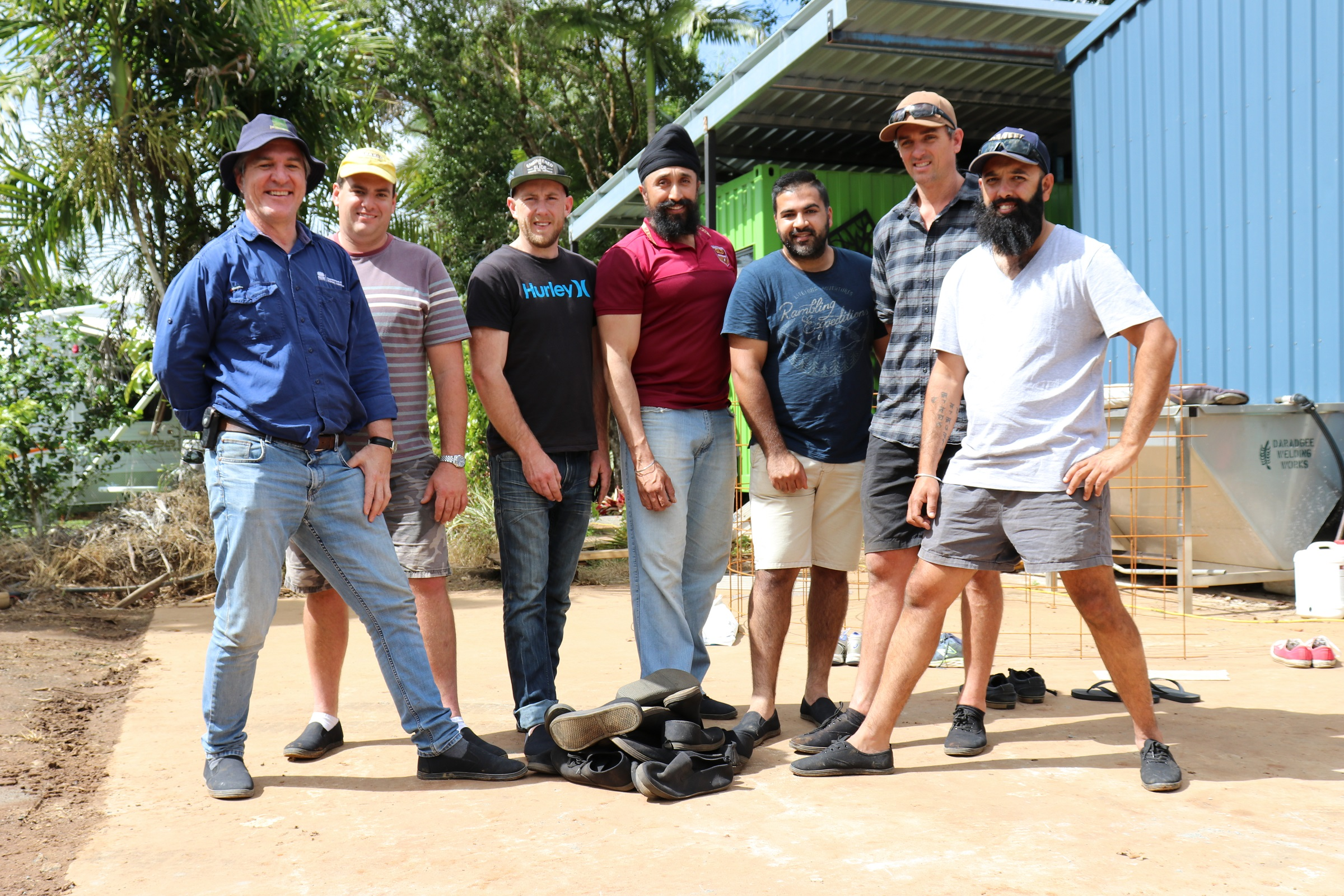 Twenty One Boot Tour – Biosecurity was a top priority for the NSW growers' tour of the North, wearing brand new shoes on each farm they visited.
