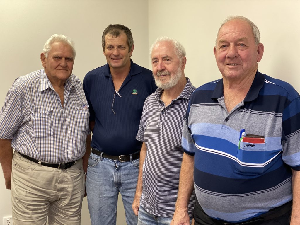 The Coffs Harbour executive: Ron Gray, Jeff Eggins, Phil Bicknell and Wally Gately.