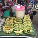 Sale of bananas at the traditional local markets.